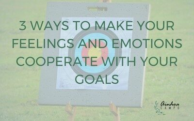 3 ways to make your feelings and emotions cooperate with your goals