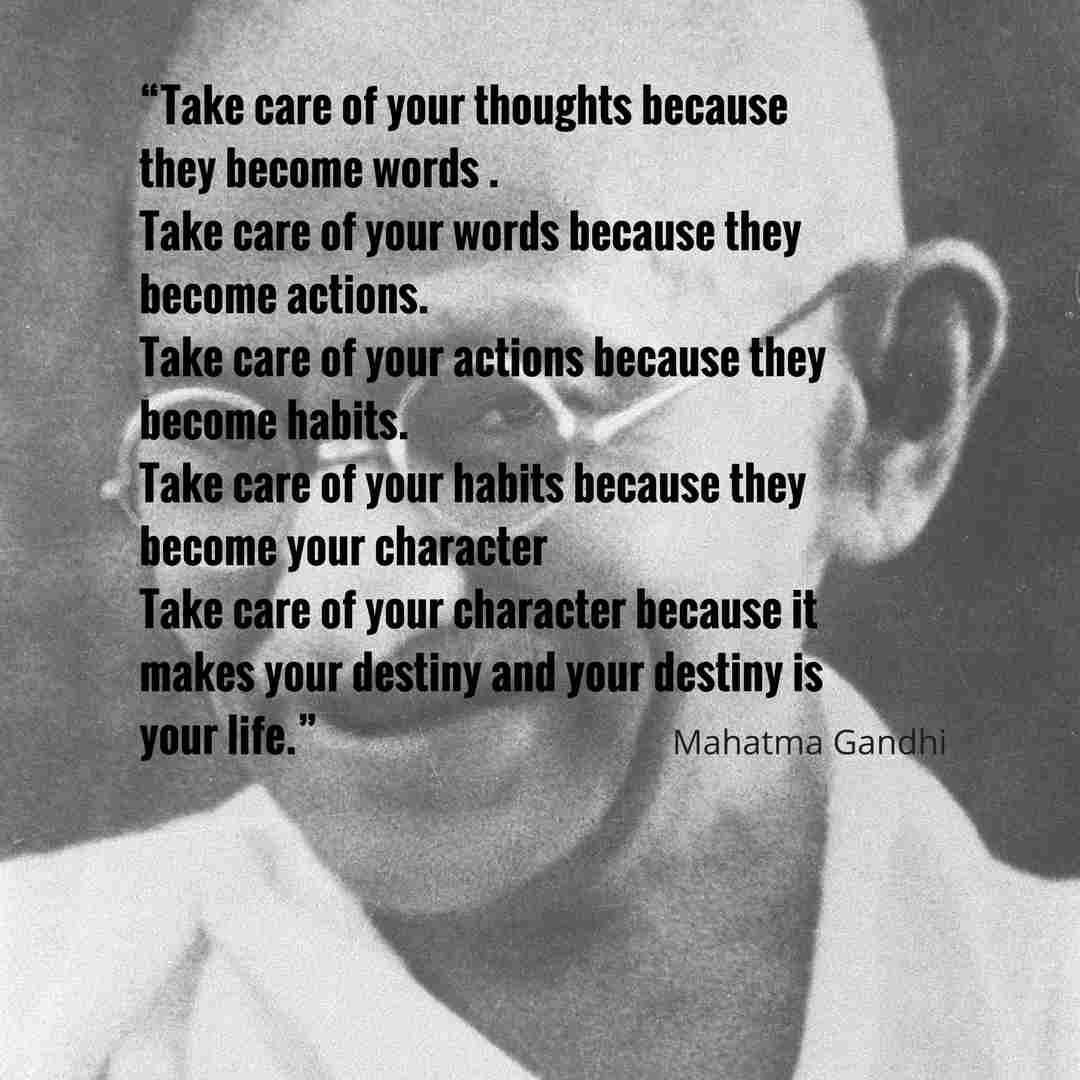 Ghandi on words